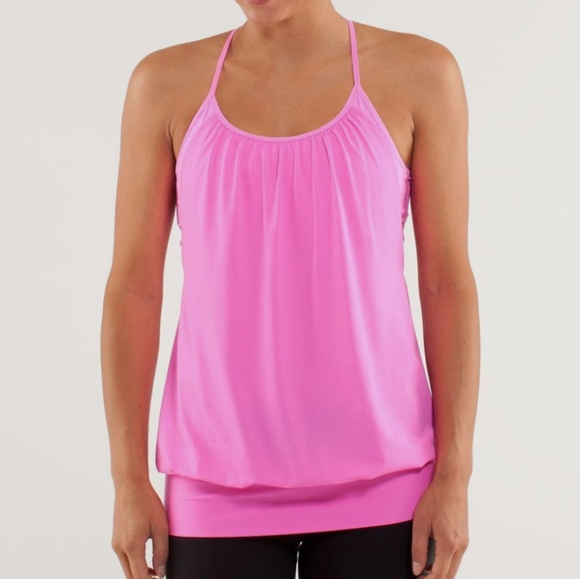 bbe08c91d9558 lululemon athletica Tops - Lululemon No Limits Pow Heathered Pink Tank SZ 6